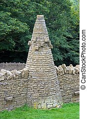Dry Stone Pillar - A Pillar made of Dry Stone in a public...