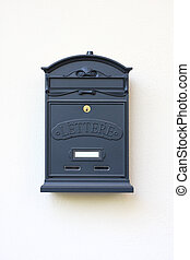 letter-box for your letters on a white wall.