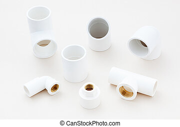 Group of combined fittings for PVC pipes