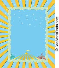 Circus retro poster - A retro circus. Blue background for a...