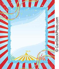 vintage poster - A retro circus.