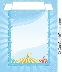 circus Retro poster - A retro circus background for a poster...