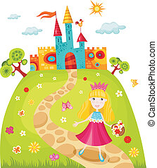 princess - vector illustration of a cute princess