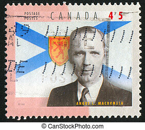 postage stamp - CANADA - CIRCA 1998: stamp printed by...