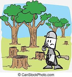 Illustration deforest sawing - Illustration deforest sawyer...
