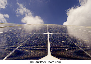Solar Panels - Shining Sun and Solar Panels