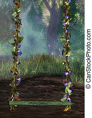 magic swing - 3d render