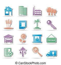 Real Estate and building icons - Vector Illustration