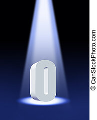 3d zero under spotlight