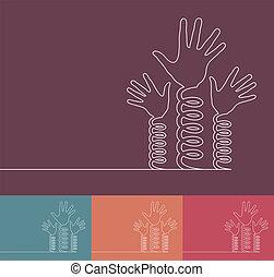 Fun coil spring hands design. - Fun coil spring hands design...