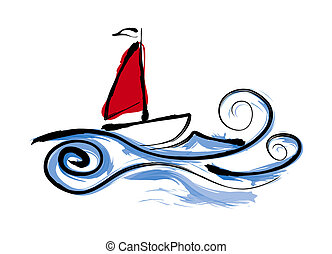 Sailing Boat illustration