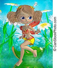 cute little fairy - 3d render