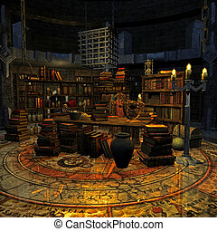 wizard\'s room - 3d render