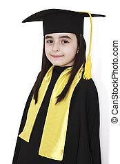 little girl graduation - little girl wearing a graduation...