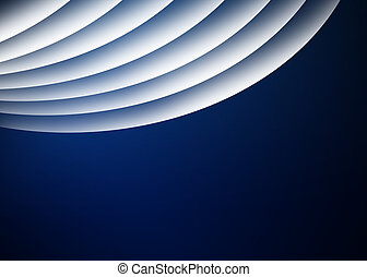 Blue curve background