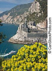 Portovenere Sea - Portovenere village by the sea in Italy in...