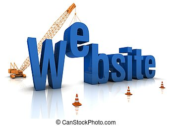 site Web, sob, construção