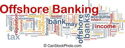 bancario, concetto, costa, fondo