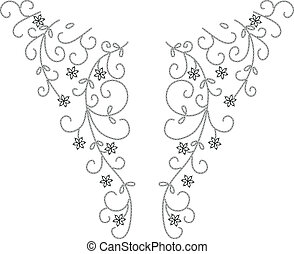 Neckline Henna fashion design