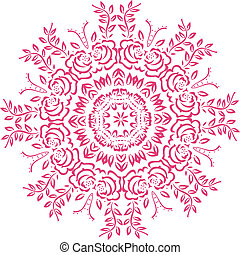 Stencil Mandala Indian Design