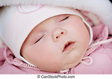 Sleeping baby - Portrait of the sleeping baby