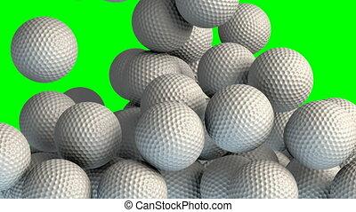 Golf balls transition effect