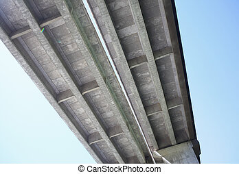highway bridge - fine image of concrete highway bridge