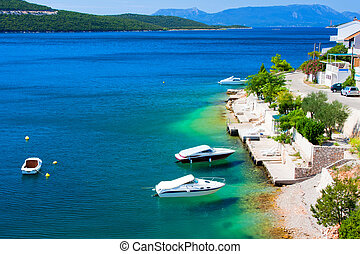 Beautiful colours of adriatic coast, Croatia