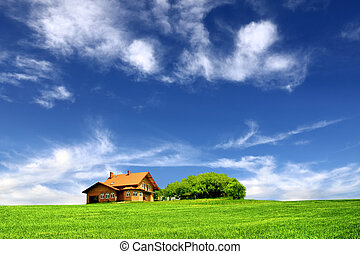 Beautiful house in the ecological environment