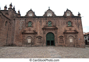 Cathedral at the main square of Cusco - The picture of the...