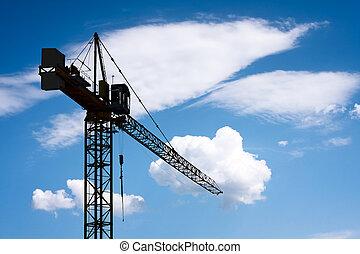 construção, guindaste