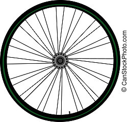 Bike wheel icon isolated on white background