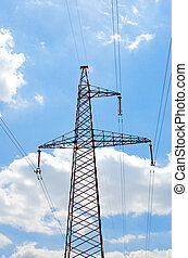 Electric lines pylon