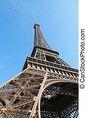 Eiffel tower on blue sky
