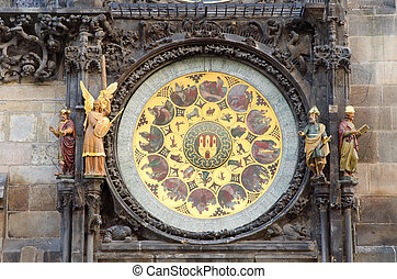 Old Astronomical Clock Detail, Prague