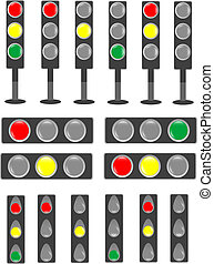 Traffic light & status bar semaphore set sign