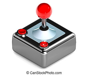 Joystick - A Colourful 3d Rendered Gaming Joystick...