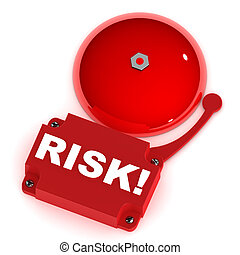 Risk Alarm Bell - A Colourful 3d Rendered Risk Alarm Bell