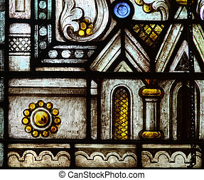 Stainglass window - 4 - Beautiful detail of a Stained glass...