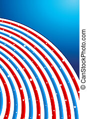 Background in American Flag Color