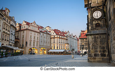 Sunrise at Old Town Square, Prague - Staromestska's Square...