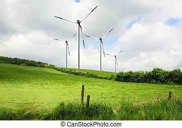 Wind hills
