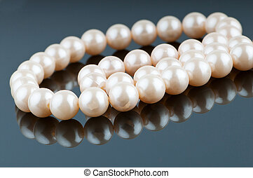 Pearl necklace in fashion and beauty concept