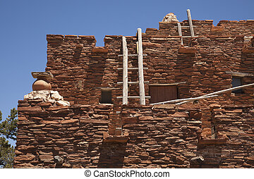 Southwestern Hopi House 1905 Architecture Abstract with...