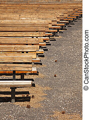 Outdoor Wooden Amphitheater Seating Abstract - Outdoor...