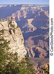 Woman Enjoys the Beautiful Grand Canyon Landscape View