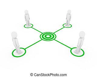 3d men connection green
