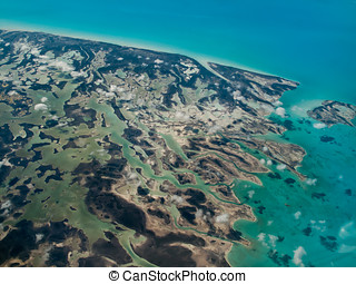 Abstract aerial of tropical islands - Aerial view of colors...