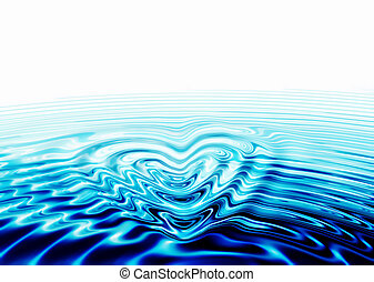 whirlpool forming a heart - whirlpool of love, water forming...