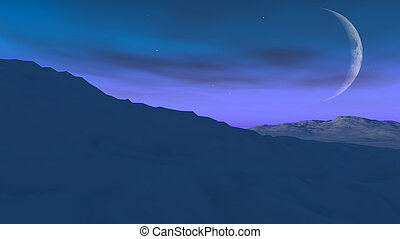 Alien World  - A view from an atmospheric alien world.